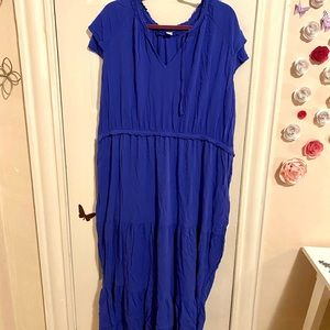 NWOT Old Navy Plus Size 2X Royal Blue Maxi Dress